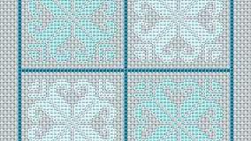 Barevné čtverce – předloha pro vyšívání