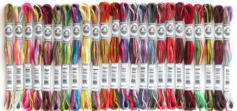 DMC Coloris – vícebarevné vyšívací příze