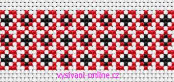 Červeno-černé bordury – předlohy pro křížkové vyšívání