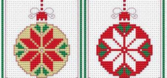 Vyšívané vánoční motivy