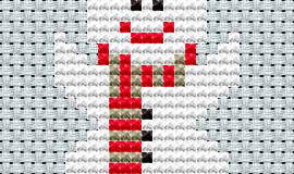 Sněhulák, předloha pro vyšívání