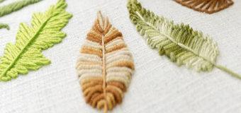 10 způsobů vyšívání listů