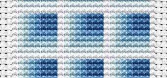 Modré čtverce – předloha pro vyšívání